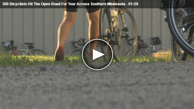 Bicycling Around Minnesota BAM 2016 rolls through southern minnesota